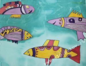 Встреча рыб. Колл. раб. Я и Ты. Сентябрь 2015
