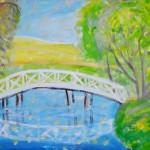 Речка, облако, мостик. Галынская Светлана