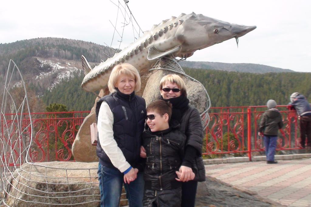 С друзьями из Красноярска