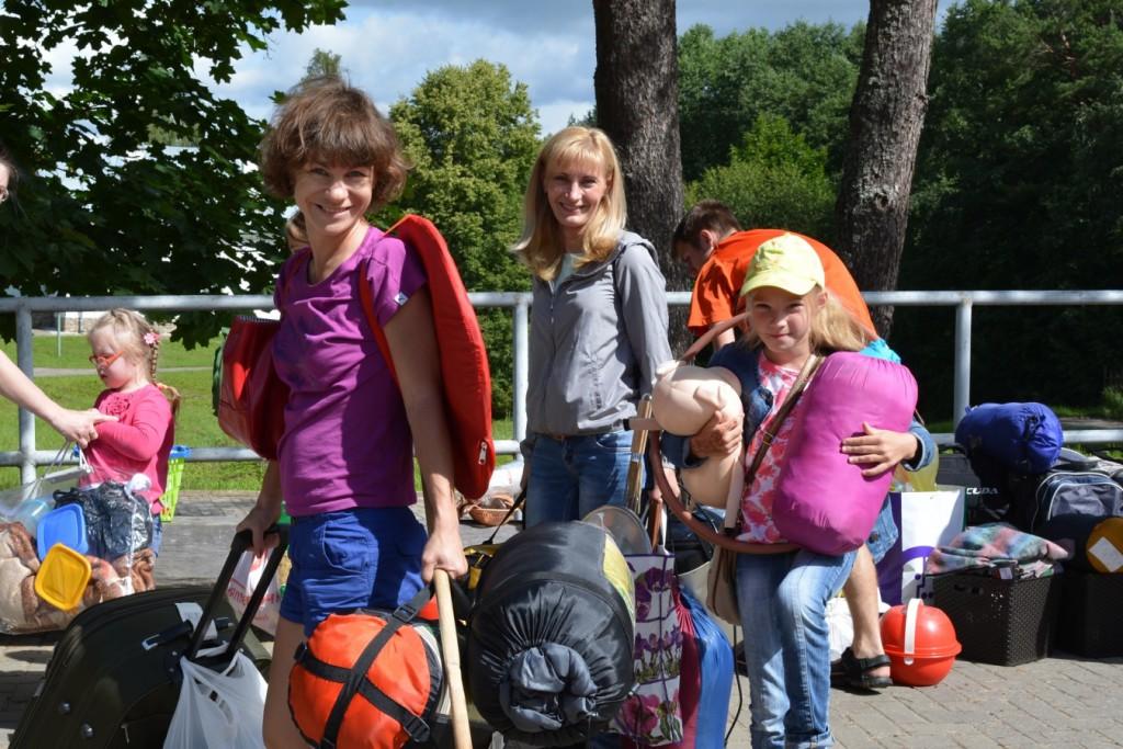Семейный лагерь, 1. прибытие